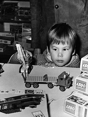 In 1949, Danish carpenter Ole Christiansen created a set of interlocking red and white blocks, the first of what would go on to become Legos. It wasnt until 1958 that the Lego company (its name derived from the Danish words for play well) patented the small bricks.