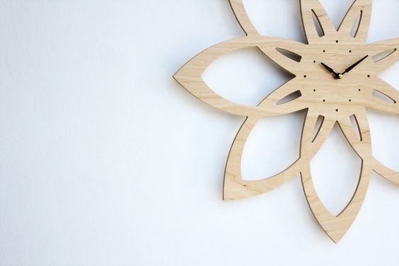 mid century modern inspired sunburst clock $98
