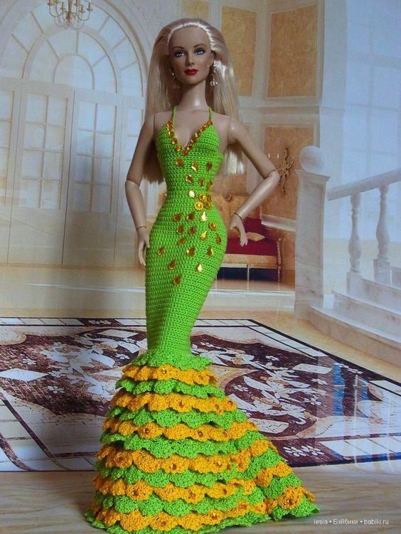Олеся - вязание для кукол Тоннер, Барби / Ямоггу. Каталог мастеров и авторов кукол, игрушек, кукольной одежды и аксессуаров / Бэйбики. Куклы фото. Одежда для кукол