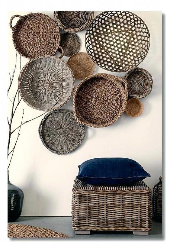Decorative Basket Wall Art Woven Basket Wall Decor Feature Wall Ideas Living Room Tv Livingroomdecor Sweet Home Interior Ide Dekorasi Rumah