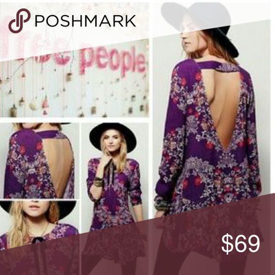"""Free People """"Smooth Talker"""" Tunic Floral printed tunic with a ruffled hem, low v-back with strap detail and hidden hip pockets. Free People Dresses"""