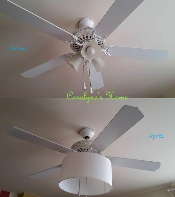 DIY : changer l'abat jour d'un ventilateur de plafond