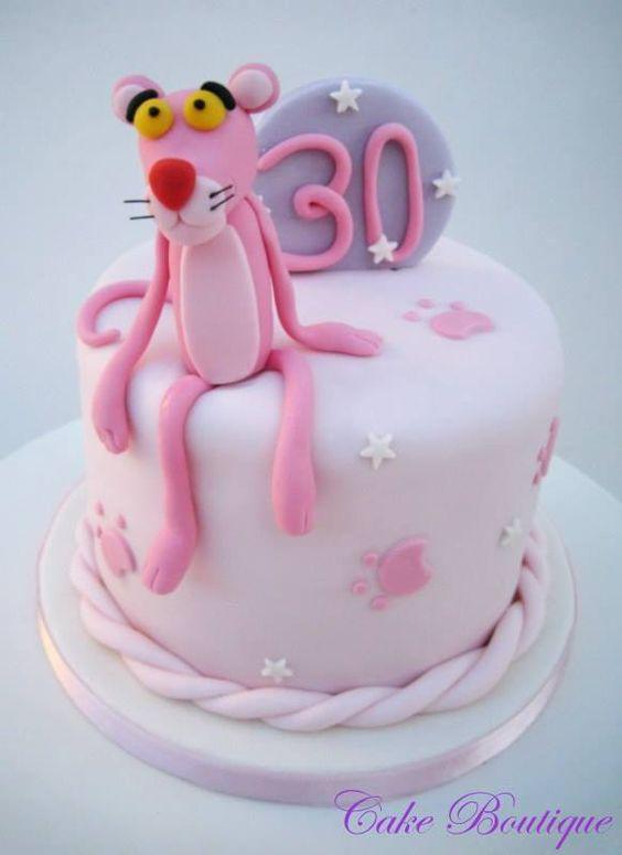 ピンクパンサーのケーキ