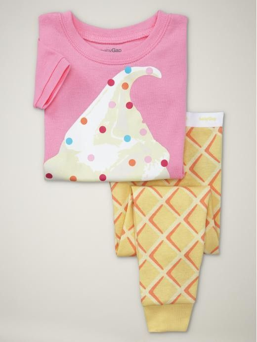 absolutely want this ice cream pj set for myself... except it's Gap Kids!