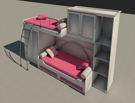 Best Bunk Beds Furniture Bed Revit Models Pinterest 640 x 480