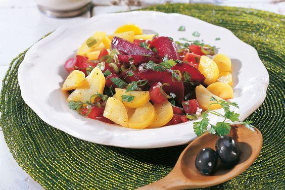 Moroccan Beetroot And Potato Salad.