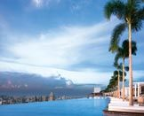 The Skypark (amazing infinity pool overlooking the city!) at Marina Bay Sands in Singapore