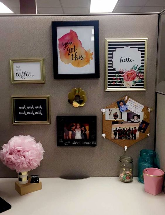 23 ingenious cubicle decor ideas to transform your for Cheap office decorating ideas