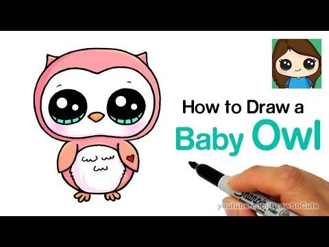 24 How To Draw A Baby Owl Easy Youtube Cute Owl Drawing Cute Baby Owl Baby Owls