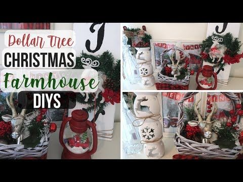 Diy Dollar Tree Christmas Farmhouse Decor 3 Rustic Christmas Decor Dollar Tre Dollar Tree Christmas Decor Christmas Decorations Rustic Rustic Christmas Diy