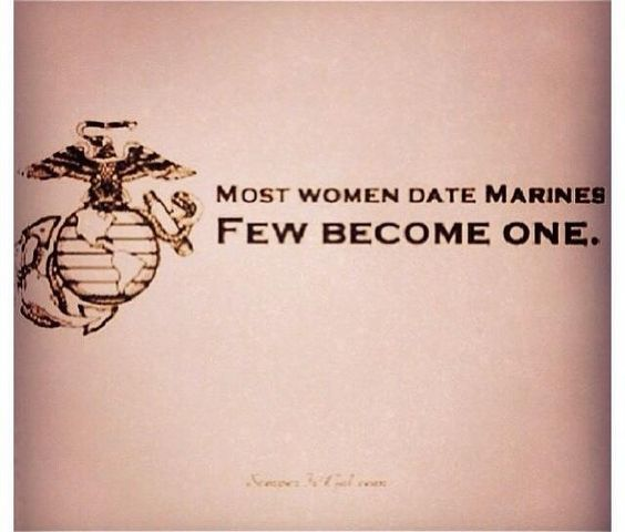 Damn straight! Am a Marine and Married one too!! OORrahh!! Love the Corps!!