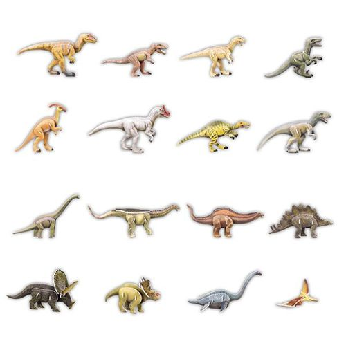 3D Puzzles Cardboard Models - Dinosaurs x 16 Kids Toys Online www.greenanttoys.com.au