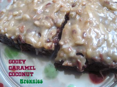 Gooey Caramel Coconut Brownies {Weight Watchers} - Oh. Em. Gee.