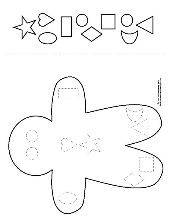 Gingerbread man shape cut and paste preschool pinterest cut and