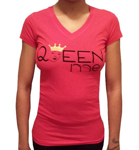Red Queen Me Fitted $25 https://www.weirdartsociety.com/product/queen-me-red-fitted-v-neck/