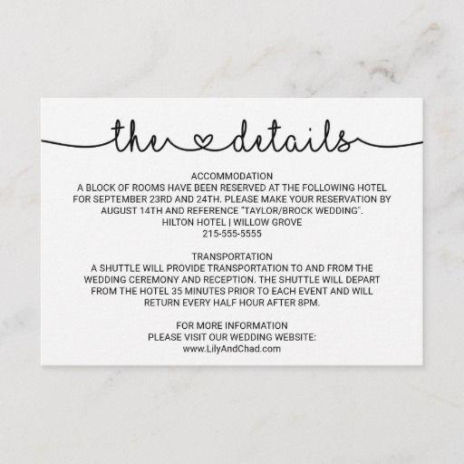 Love Hearts Wedding Details Enclosure Card Zazzle Com Wedding Details Card Enclosure Cards Vintage Wedding Invitations
