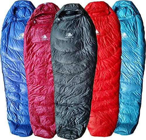 Hyke Byke Ultralight Down Sleeping Bag 3 Season 32 Degree Mummy Bag Under 2 Lbs The Lightest Highest Quality Bag For Down Sleeping Bag Sleeping Bag Mummy Bag