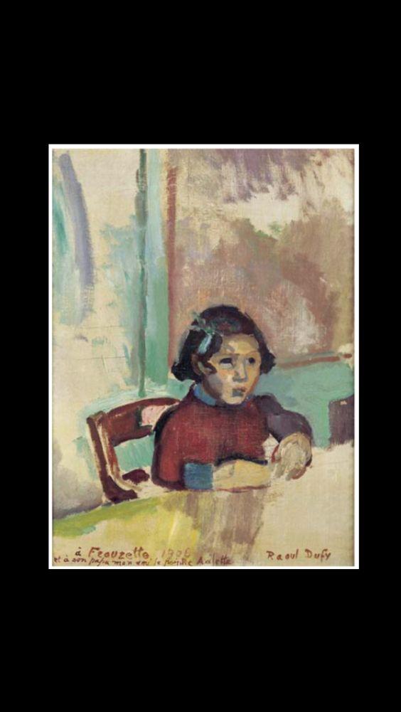 """Raoul Dufy - """" Portrait de Frouzette Axilette """", 1906 - Huile sur toile marouflée sur panneau - 37 x 27,5 cm"""