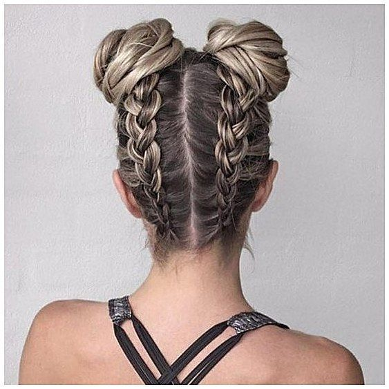 Hair Styles For School Plaits Buns Quick And Easy Back To School Hairstyles Fo Buns Easy Fo Hair Hairstyles Hair Styles Hairstyle Long Hair Styles