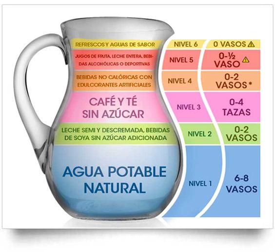 La jarra del buen beber sugiere la cantidad diaria que puedes tomar de vasos con agua, café, té, leche, refrescos, alcohol y jugos de fruta. Ver más.