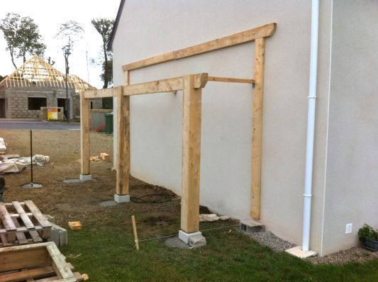 Pin by Kis Viktória on Garden Pinterest Pergolas, Construction - construire un garage en bois m