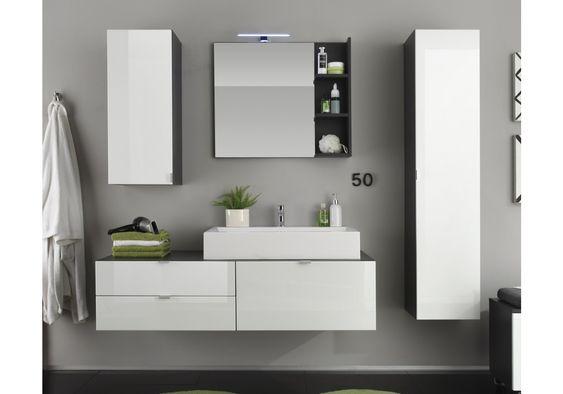 Badezimmer Weiss Hochglanz Tiefgezogen Grau Woody 93 00815 Badezimmer Mobel Weiss Badezimmer Design Badezimmer Gunstig