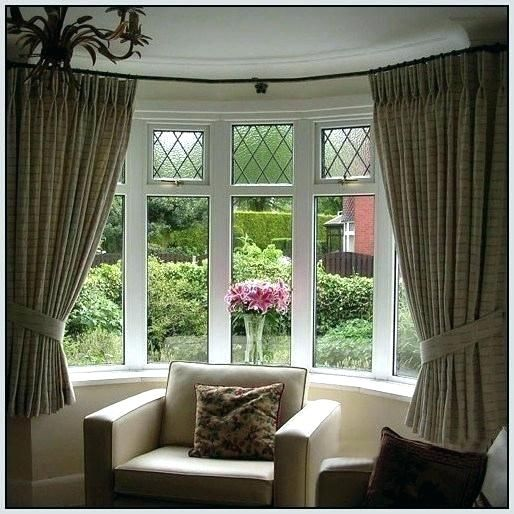 Image Result For 3 Sided Bay Window Curtain Pole Bay Window Curtains Bow Window Bow Window Curtains