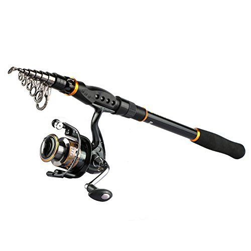 Goture Spinning Fishing Reel and Rod Combo for Bass Trout Salmon Fit Boat Travel