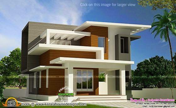 Free Plan Of Contemporary Home Kerala Home Design Kerala House Design Architecture House Contemporary House Exterior