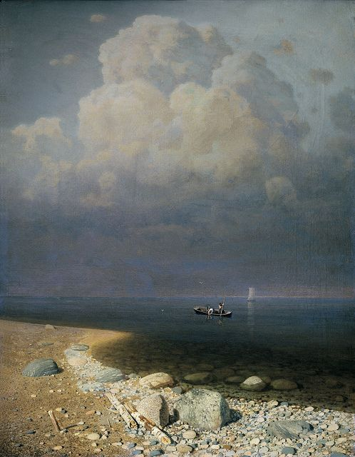 Antropov Kuindzhi - Ladoga lake [1870], oil on canvas:  Antropov Kuindzhi (Mariupol, January 15, 1841 - Saint Petersburg, July 11, 1910) was a Russian landscape painter. He was born the son of a poor Greek shoemaker . He lost his parents early in life and lived in great poverty, tending geese and serving the contractor for the building of a church. [Oil on canvas, 795 x 625 cm]