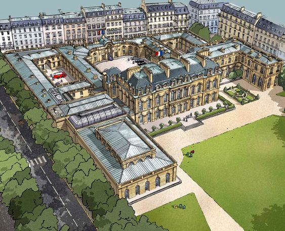 Palais De L U0026 39  U00c9lys U00e9e  Paris    Ancien H U00f4tel D U0026 39  U00c9vreux
