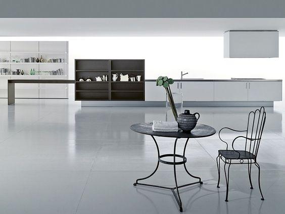 Küche aus Corian® mit integrierten Griffe ZONE by Boffi | Design Piero Lissoni