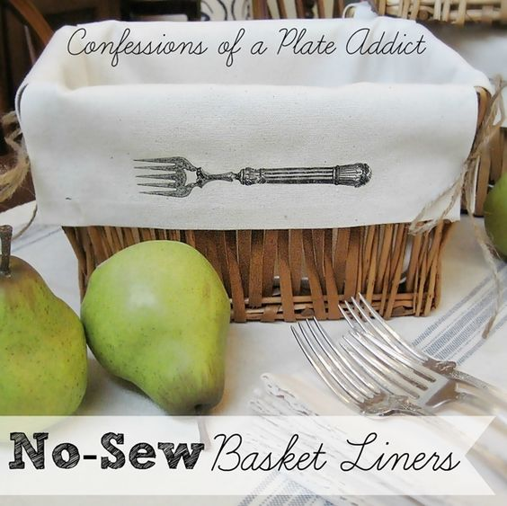 Fun and Easy No-Sew Basket Liners!
