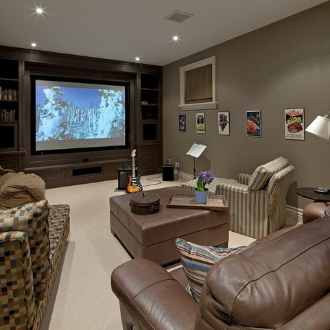 Decorating Your Home Theater On A Budget Small Media Rooms Media Room Colors Media Room Paint Colors