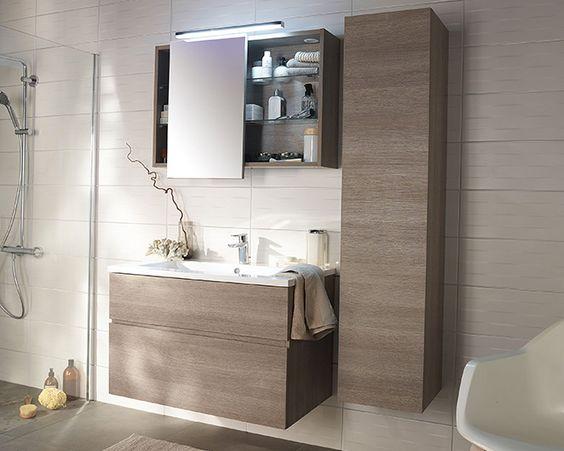 Castorama meuble de salle de bains calao une salle de bains propice la d tente salles de for Neon salle de bain castorama