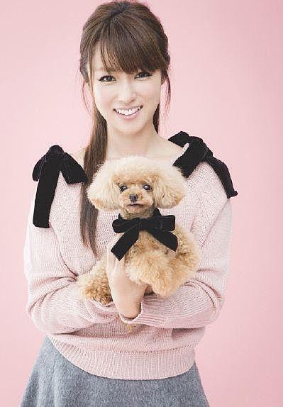 犬を抱く深田恭子