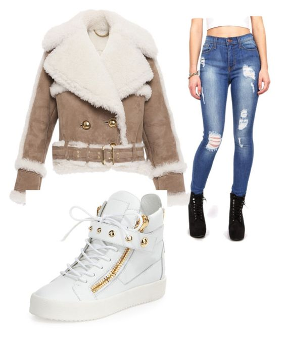 """""""Boss chick """" by tylenahill on Polyvore featuring Burberry and Giuseppe Zanotti"""