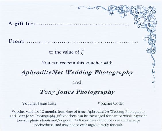 Christmas Photography Gift Voucher Photography Ideas Pinterest - photography copyright release form