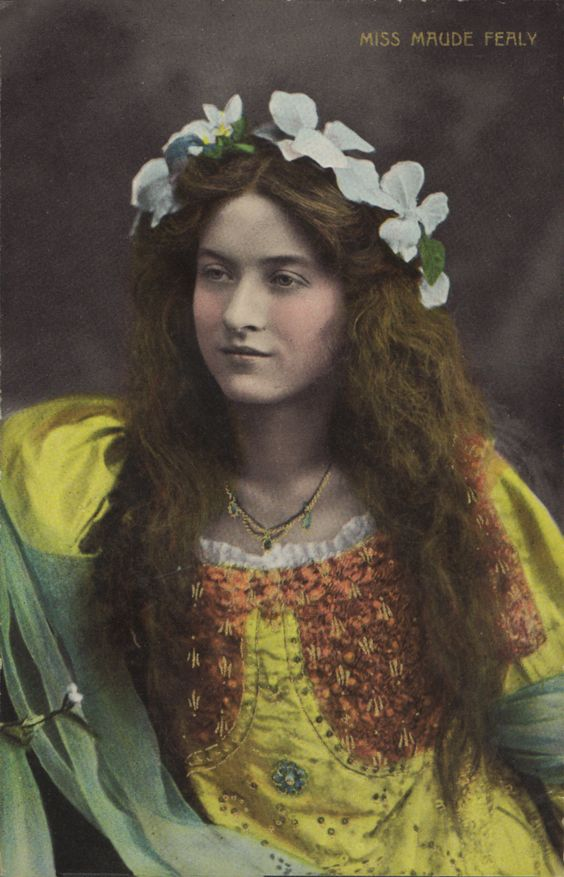 Maude Fealy did not need make-up to make her this beautiful.