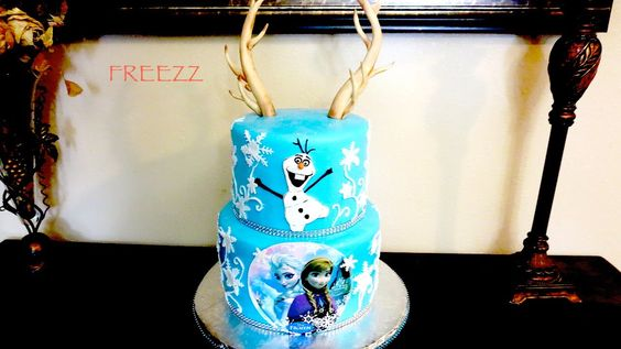 Frozen cake and Antlers Fondant Cake