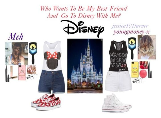 """""""Comment to meh best friend ✌️"""" by xxjerriexx on Polyvore featuring Disney, Ally Fashion, Vans, Converse, By Terry, Marc Jacobs and Eos"""