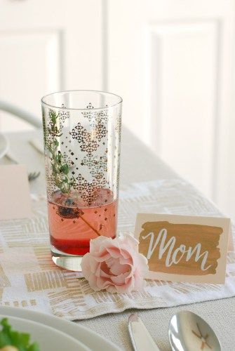 Mother's Day Brunch {Part 2} //Pink fizz cocktail // Twin Stripe