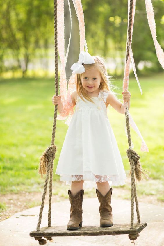 Adorable Flowergirl | Amanda Suanne Photography | Bridal Musings Wedding Blog  Dress by Cotton Angels available in the Cedarwood Style Shop: