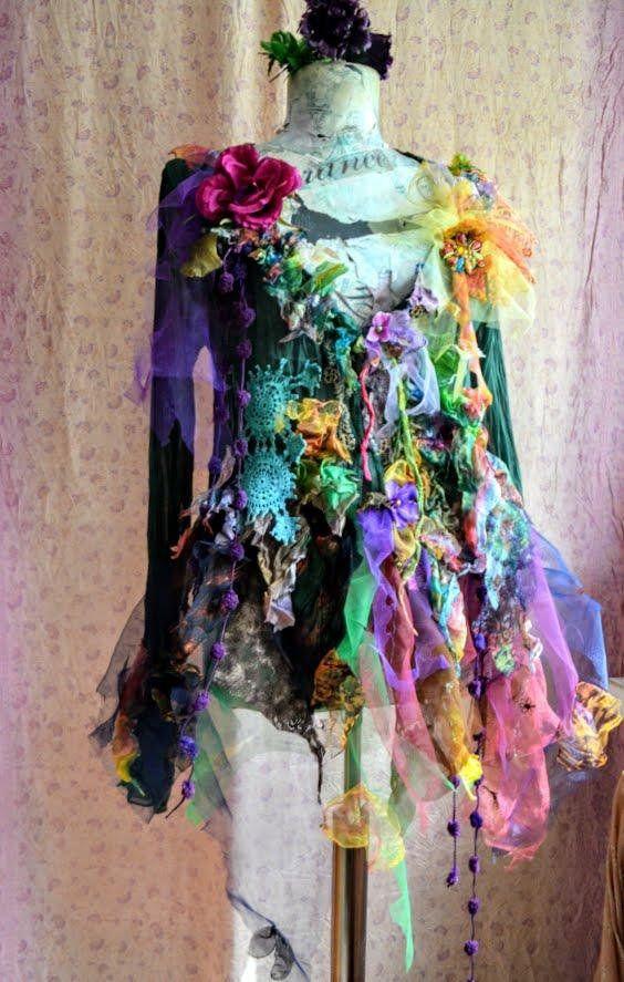 Hand dyed silk jacket L Boho wearable art