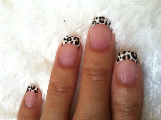 Leopard French tips!