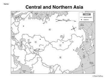 Blank Map Of Central And Northern Asia