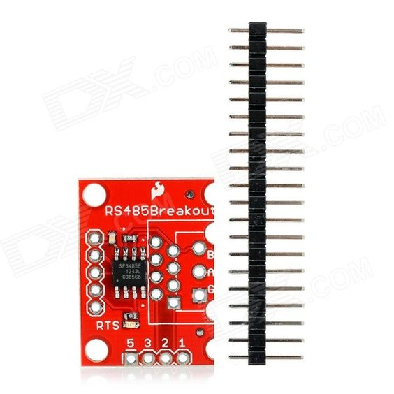 RS485 - Transceiver Breakout. Description: This is a breakout board for the SP3485 RS-485 transceiver IC, which will convert a UART serial stream to RS-485. The SP3485 is a half-duplex transceiver, so it can only communicate one way at a time, but it can reach transmission speeds of up to 10Mbps. This board requires a very low amount of power and can operate from a single +3.3V DC supply. This breakout board includes the SP3485 RS-485 transceiver, filter capacitor, and other components shown…