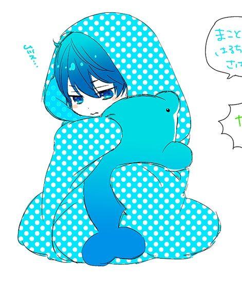 Drawn by u_yucca ... Free! - Iwatobi Swim Club, haruka nanase, haru nanase, haru, nanase, haruka, plush dolphin, free!, iwatobi: