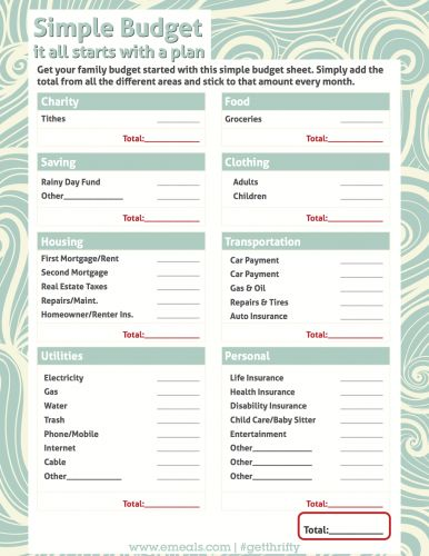 Worksheet Simple Budget Worksheets budget worksheets and on pinterest simple worksheet free printable