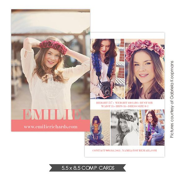 amelya modeling modeling comp cards comp card template card templates